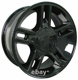 Black 20 Wheel Tire SET Fit Ford F150 Harley Style Goodyear Tires