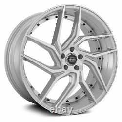 Blade BRVT-456 ENZO Wheels 20x8.5 (35, 5x114.3, 74.1) Silver Rims Set of 4