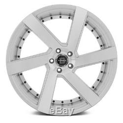 Blade Wheels 24x9.5 (25, 6x139.7, 78.1) Silver Rims Set of 4