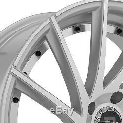 Blade Wheels 26x9.5 (25, 6x139.7, 78.1) Silver Rims Set of 4