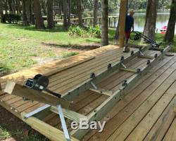 Boat Ramp Kit Ket SKi Wave Runner Shore Dock Lift Roller Wheel Set 1200-2000 Lb