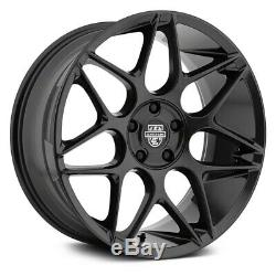 Center Line 671B SM2 Afterburner Wheels 20x9 (38, 5x120.65) Black Rims Set of 4