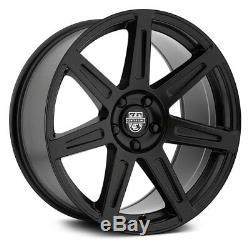 Center Line SM-1 Wheels 19x9.5 (33, 5x114.3, 73) Black Rims Set of 4