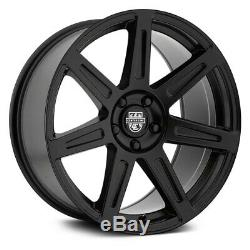 Center Line SM-1 Wheels 20x10.5 (45, 5x114.3, 74.1) Black Rims Set of 4