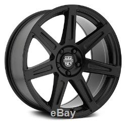Center Line SM-1 Wheels 20x9 (+15, 5x114.3, 73) Black Rims Set of 4