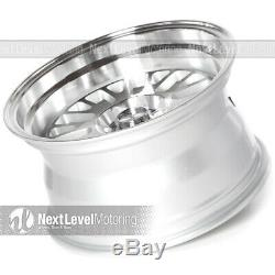 Circuit Performance CP28 15x8 4-100 4-114.3 +0 Silver Machined Wheels (SET OF 4)
