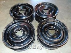 Citroen SM Steel Wheels Rims 15x6 -Set Of 4-Nice Shape - MT