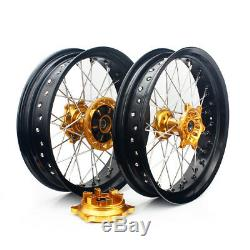 DRZ400SM 05-17 17 Suzuki Complete Wheel Set Cush Drive DRZ400S DRZR00E DRZ400