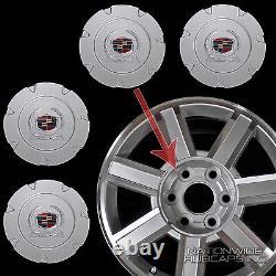 Fits 2007-14 Cadillac Escalade 18 Aluminum Wheel Center Hub Caps Rim Cover Hubs