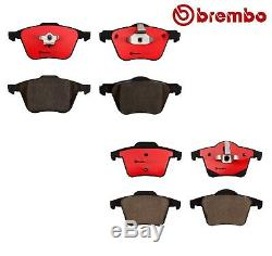For Volvo XC90 Pair of Front Rear Disc Brake Pads Set Brembo with 16 316mm Wheels