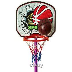 Free Standing Basketball Hoop Net Backboard Stand Set Adjustable Portable Wheels