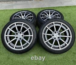 Genuine Mercedes C63s W205 18 Amg Alloy Wheels & Michelin Tyres Rare 10.5j+9j