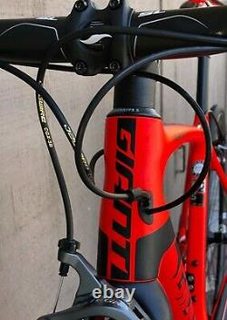 Giant TCR Advanced SL 2 Full Carbon Road Bike with SLR Carbon Wheelset Neon Red