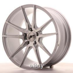 Japan Racing JR21 18x9,5 ET35 5x100 5x120 Silver SET 4 CERCHI 4 WHEELS