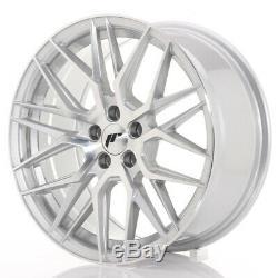 Japan Racing JR28 17x8 ET40 5x112 Silver Set 4 cerchi in lega/4 wheels