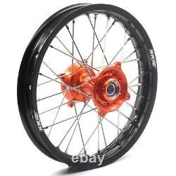 KKE 17/14 Small Kid'd Wheels Set For K 85 SX 2003-2020 Mini Dirt Bike Orange Hub