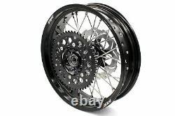 KKE 17 Supermoto Motard Wheel Rim Set For Suzuki DRZ400SM 2005-2020 Disc Black