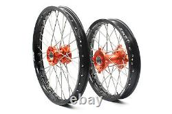 KKE 1.417 / 1.614 Small Kid's Wheels Rims Set For KTM85 SX 2003-2020 Mini Hub