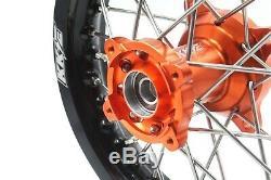 KKE 1.612/1.610 Kid's Small Wheels Rims Set Fit KTM50 SX 2000-2013 Mini Hub