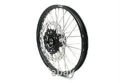 KKE 21/18 Enduro Spoke Wheel Rim Set For Suzuki DRZ400SM 2005-2020 CNC Black Hub
