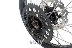 KKE 21/18 Enduro Wheels Rims Set Fit SUZUKI DRZ400SM 2005-2020 Black 310mm Disc
