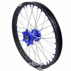KKE 21/18 Enduro Wheels Rims Set Fit SUZUKI DRZ400 DRZ400SM DRZ400E DRZ400S Blue
