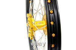 KKE 21/18 Enduro Wheels Rims Set For SUZUKI DRZ400S 2000 DRZ400SM 2020 DRZ400E