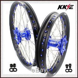 KKE 21/18 Spoked Enduro Wheels Set For SUZUKI DRZ400S DRZ400SM DRZ400E Blue Nip