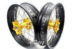 KKE 3.5/4.2517 DRZ400E/S DRZ400SM DRZ400 Supermoto Wheels Rims Set Fit SUZUKI