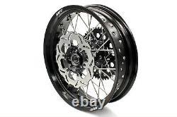KKE 3.5/4.2517 For SUZUKI DRZ400SM Supermoto Motard Wheels Rims Set Black Disc
