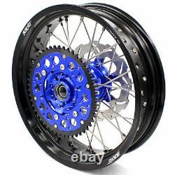 KKE 3.5/4.2517 Supermoto Motard CNC Wheels Rims Set Fit DRZ400SM 2005-2020 Disc