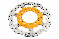 KKE 3.5/4.2517 Supermoto Motard Wheels Rims Set For SUZUKI DRZ400SM 2005 Gold