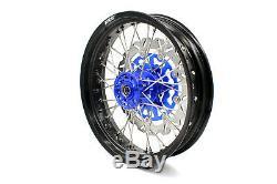 KKE 3.5/4.2517'' Supermoto Wheels Rims Set Fit SUZUKI DRZ400SM 2005-2019 Blue