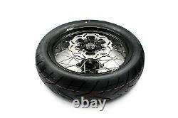 KKE 3.5/4.2517in. Supermoto Wheels Rims Tires Set For SUZUKI DRZ400SM 2005-2021
