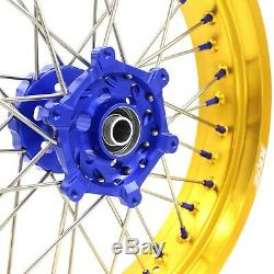KKE 3.5/4.25 Rim Supermoto Wheels Set Fit SUZUKI DRZ400S 2000-2019 DRZ400SM Gold