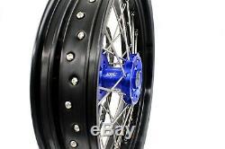 KKE 3.5/4.25 Supermoto CUSH Drive Wheels Rims Set For SUZUKI DRZ400SM 310mm Disc