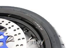 KKE 3.5/4.25 Supermoto Motorcycle Wheels Rims Set Tire Fit SUZUKI DRZ400SM 2021