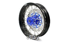 KKE 3.5/4.25 Supermoto Wheels Rims Set Fit SUZUKI DRZ400SM 05-19 Blue 310mm Disc