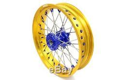 KKE 3.5/4.25 Supermoto Wheels Set Fit SUZUKI DRZ400 DRZ400S/E DRZ400SM Gold Rims