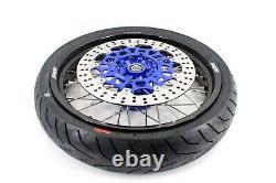 KKE Supermoto Wheels Rims Tires Set 3.5/4.25 Fit SUZUKI DRZ400SM 2005-2020 Dirt