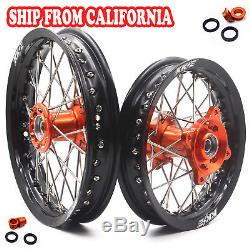 Kid's Small Wheel Set 1.612 & 1.610 Fit Ktm50 Sx Ktm Sx Mini 00-13 Orange Hub