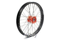 Kke 17/14 Small Kid's Wheels Rims Set For Ktm 85 Sx 2003-18 Mini Bike Orange Hub
