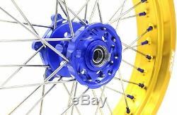 Kke 17 Inch Supermoto Wheel Set Fit Suzuki Drz400sm 2005-2018 Drz400 E Gold Rim