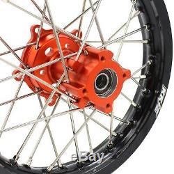 Kke 1.414/1.612 Kid's Small Wheels Rims Set Fit Ktm65 Sx 2002-2018 Mini Bike