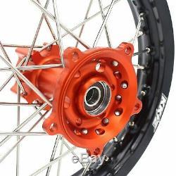 Kke 1.414/1.612 Small Kid's Wheels Rims Set For Ktm65 Sx 2002-2019 Mini Bike