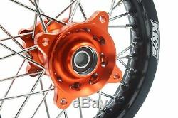 Kke 1.612/1.610 Small Kid's Wheels Rims Set Fit Ktm 50 Sx 2014-2019 Mini Bike