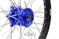 Kke 21/18 Enduro Wheels Rims Set Fit Suzuki Drz400 Drz400s Drz400e Drz400sm Blue