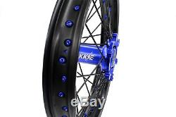 Kke 21/18 Enduro Wheels Rims Set Fit Suzuki Drz400s Drz400sm Drz400e Blue/black