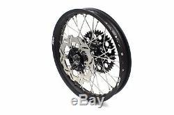 Kke 21/18 Enduro Wheels Rims Set Fit Suzuki Drz400sm 2005-2018 Black 310mm Disc