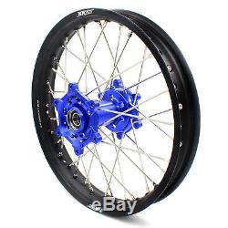Kke 21/18 Enduro Wheels Rims Set Fit Suzuki Drz400sm Drz400 Drz400s Drz400e Blue